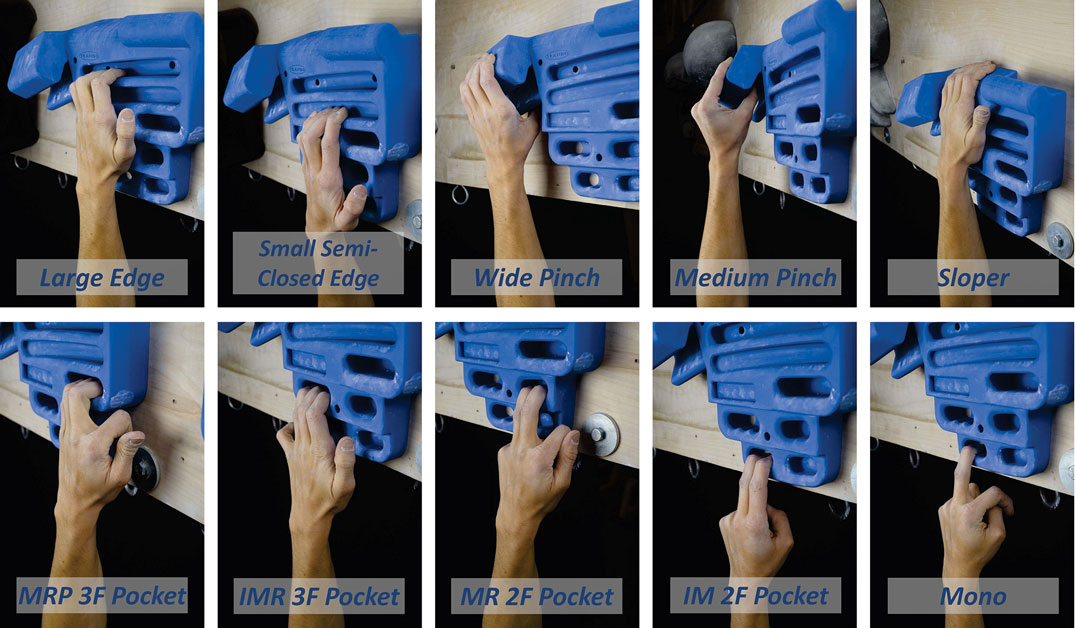An Ortment Of Por Hangboard Grip Positions Select 8 10 These Grips For